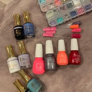 Other - Huge bundle of nail supplies gel + glitter